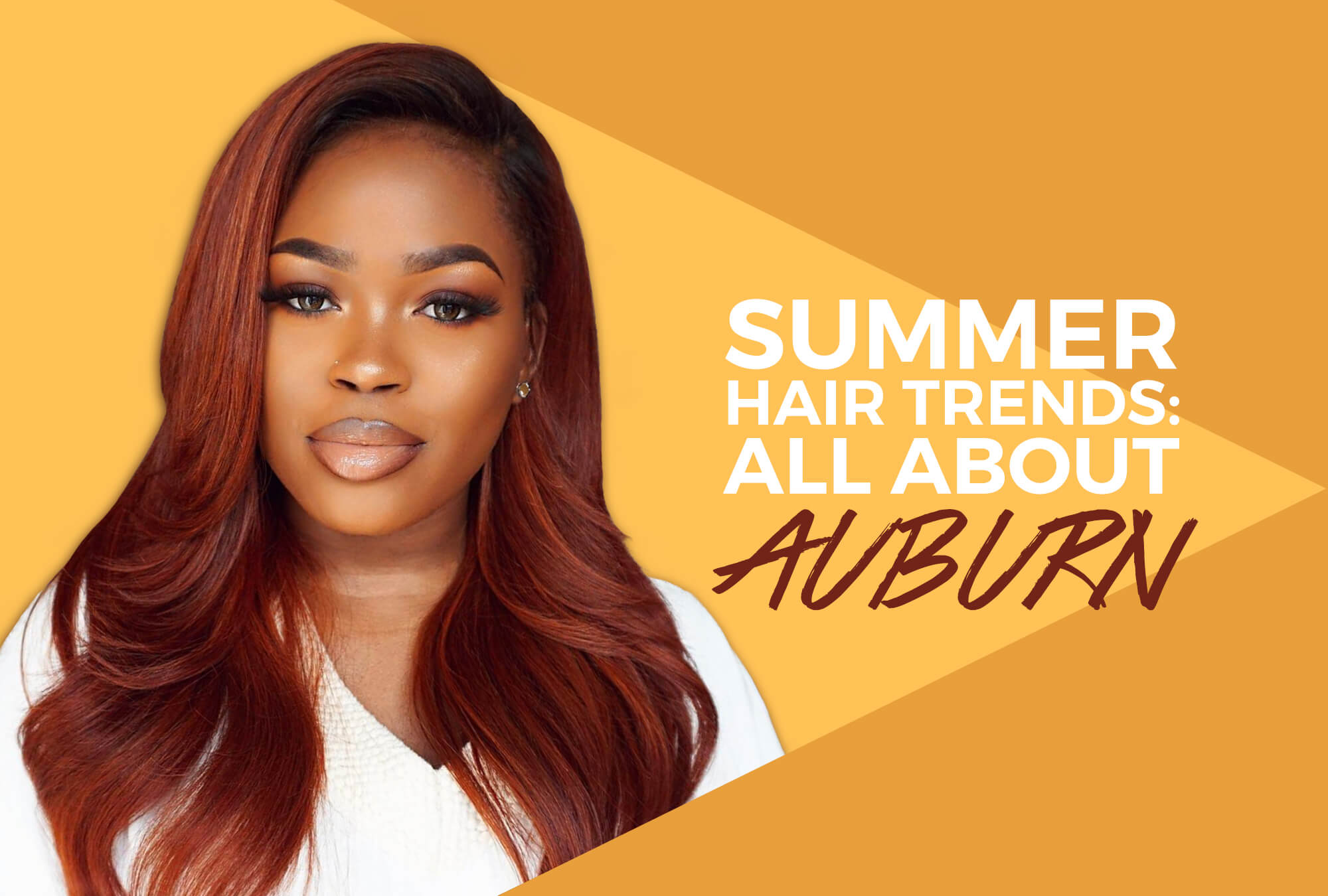 Sunkissed Locks It's All About Auburn Hair This Spring