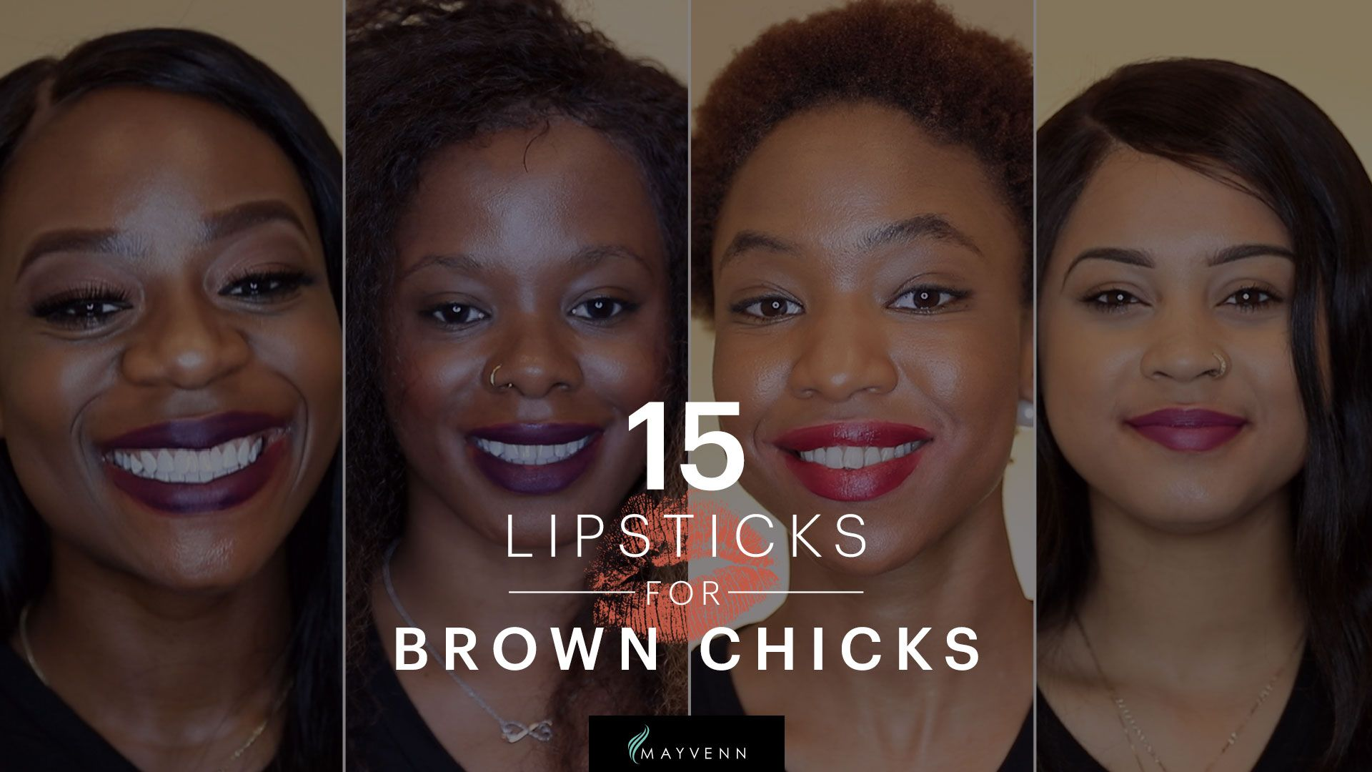 3 Purple Lipsticks For Brown Chicks | Mayvenn + Cocoa Swatches