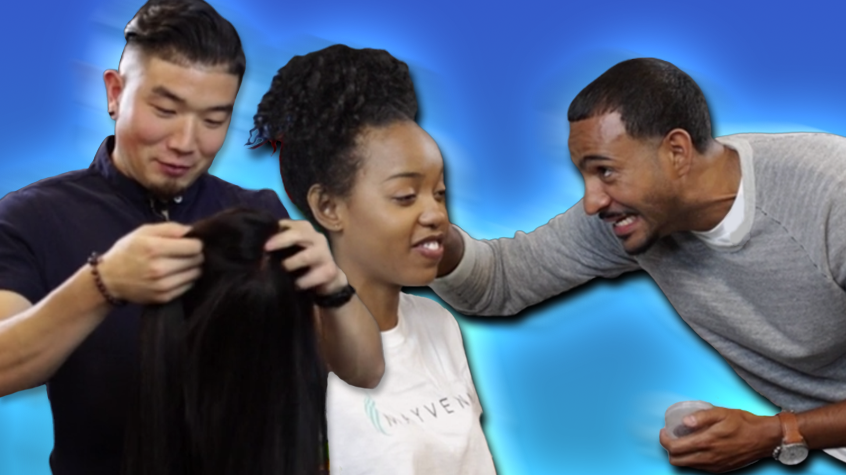 Mayvenn Men (Try To) Style Black Women's Hair For The First Time