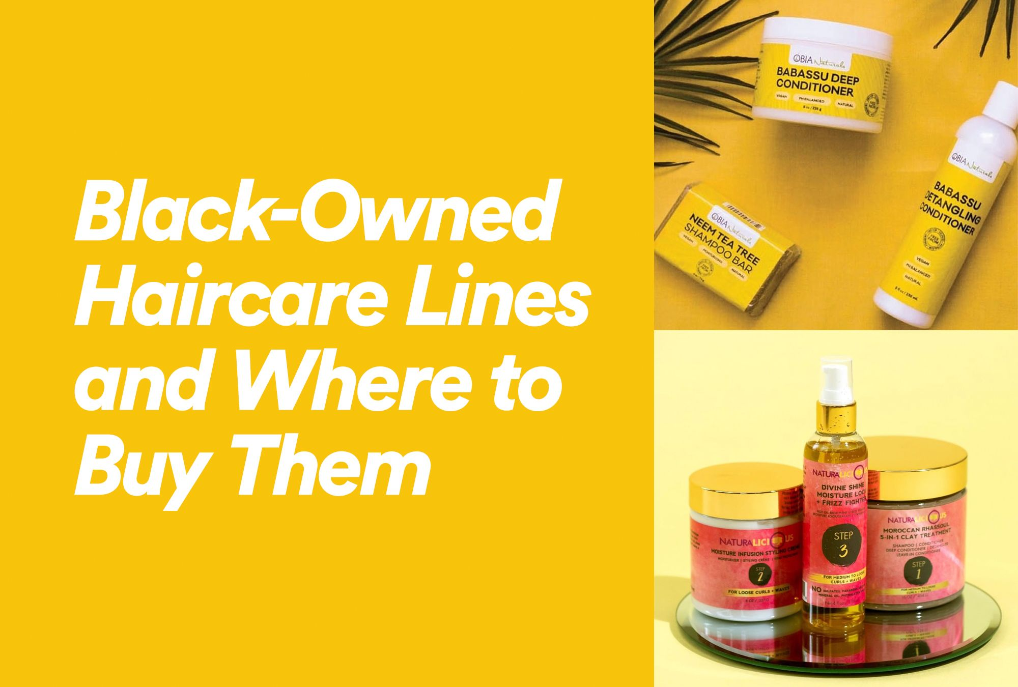 Black Owned Haircare Lines And Where To Buy Them