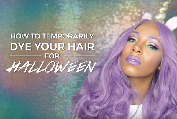 How to Temporarily Dye your Hair for Halloween